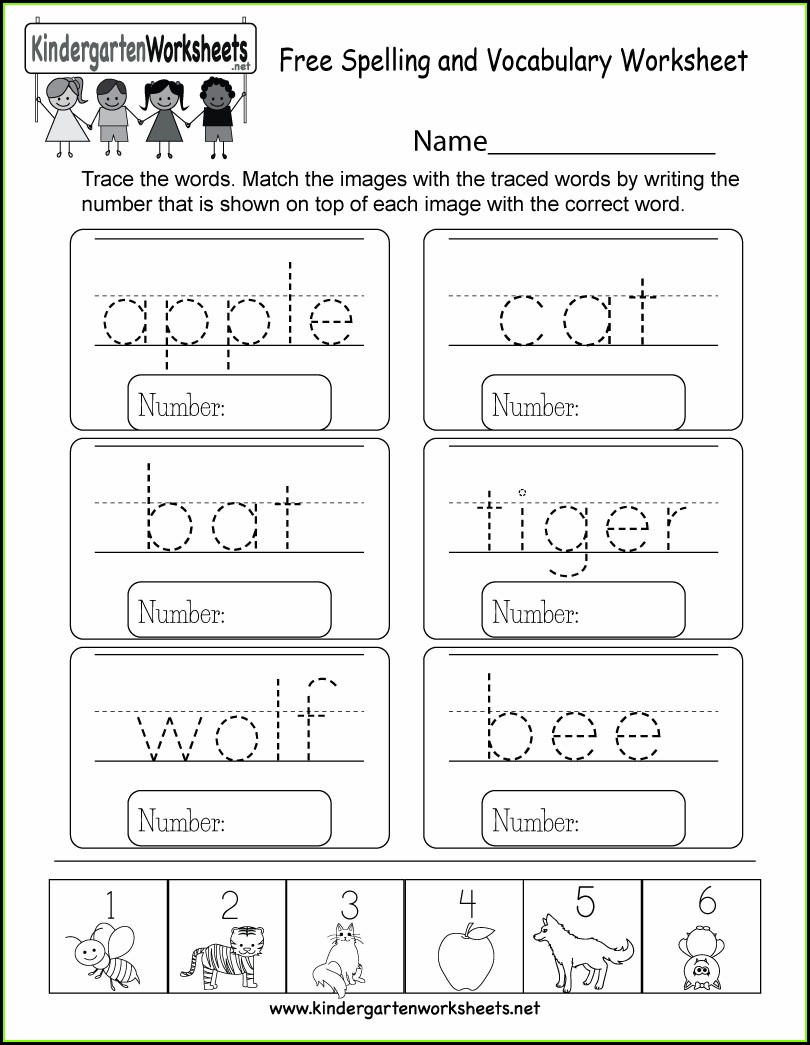 Blank Math Vocabulary Worksheet