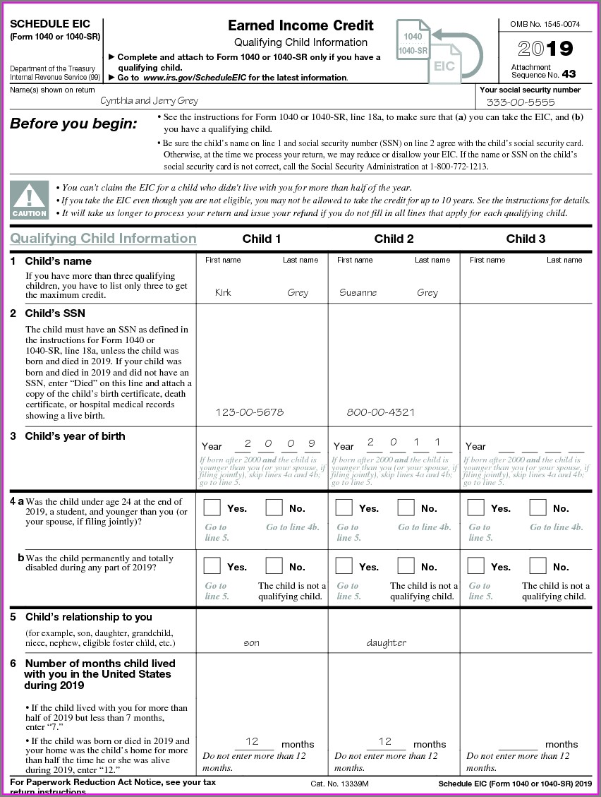 California Earned Income Tax Credit Worksheet 2018