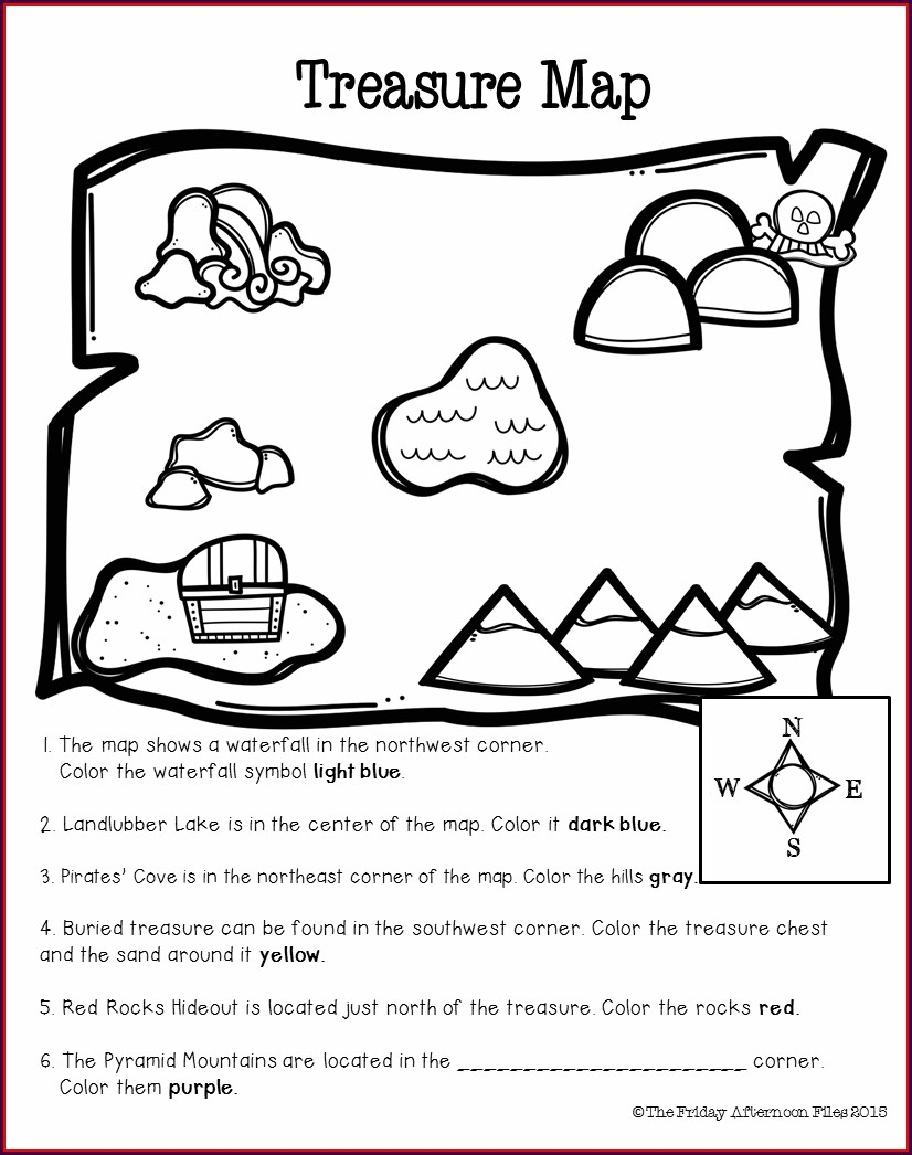 Cardinal Directions Worksheet For 4th Grade