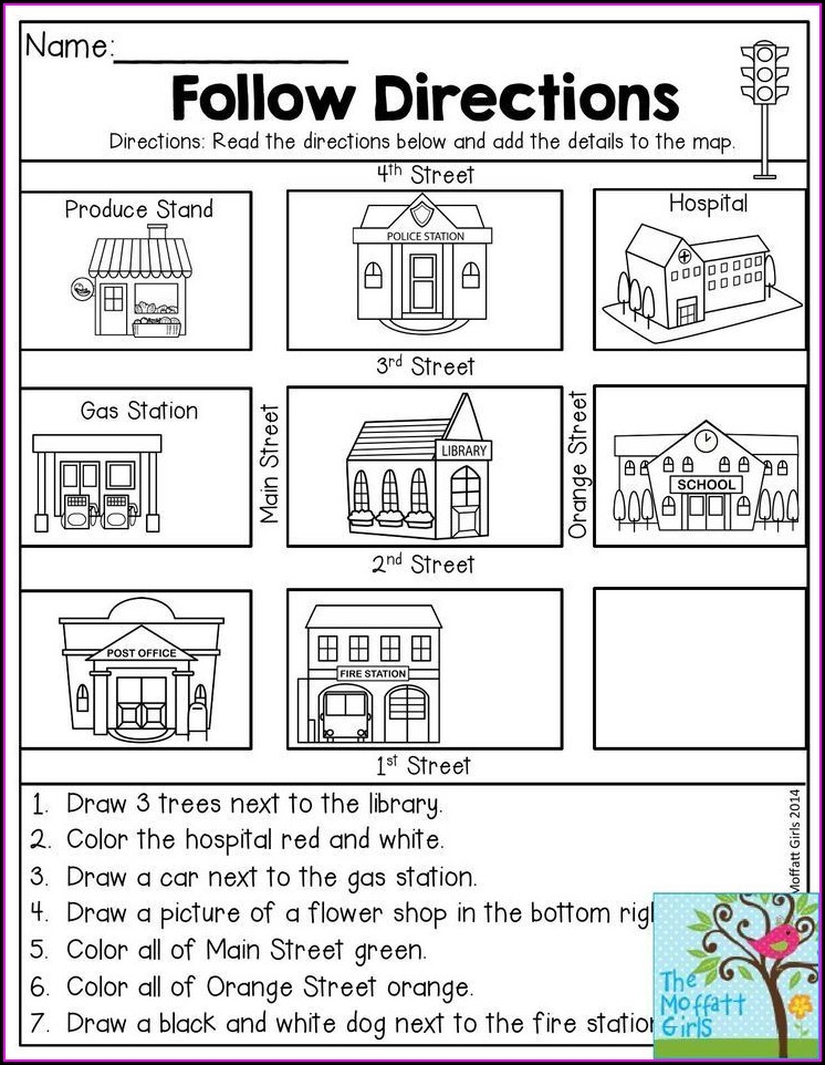 Cardinal Directions Worksheet For First Grade