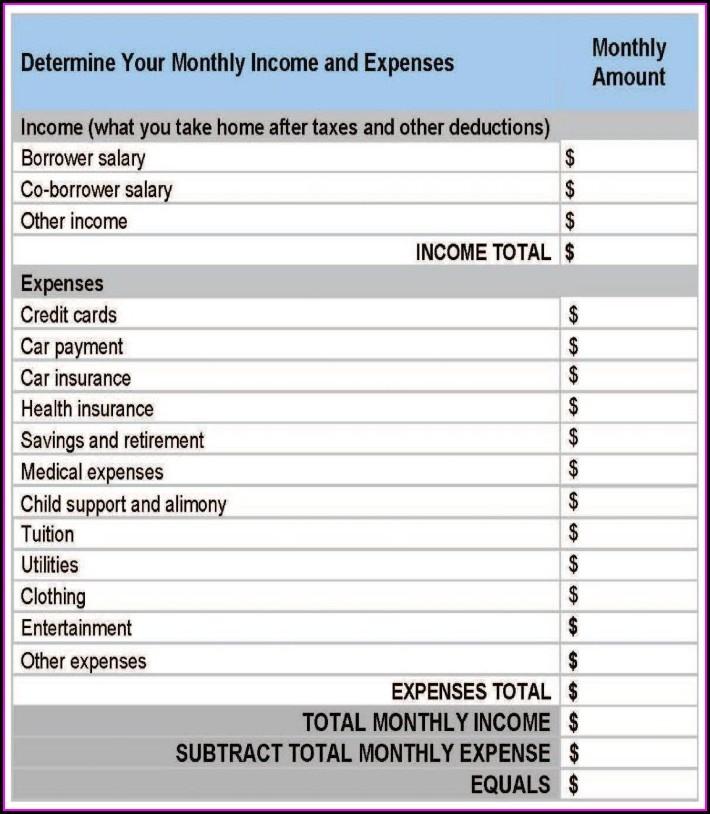 Child Support Budget Worksheet