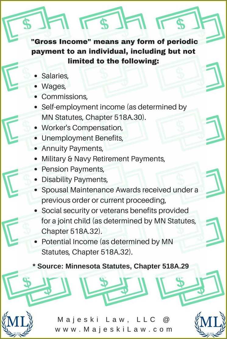 Child Support Guidelines Worksheet Mn