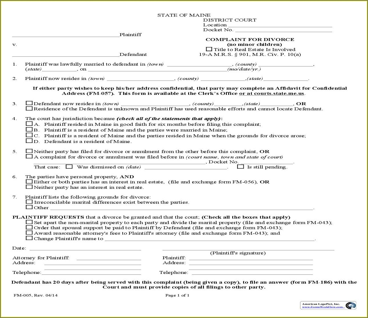 Child Support Supplemental Worksheet Maine