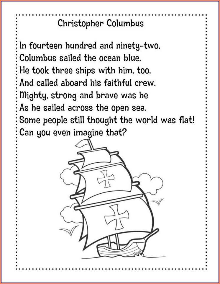 Christopher Columbus Lessons For First Grade