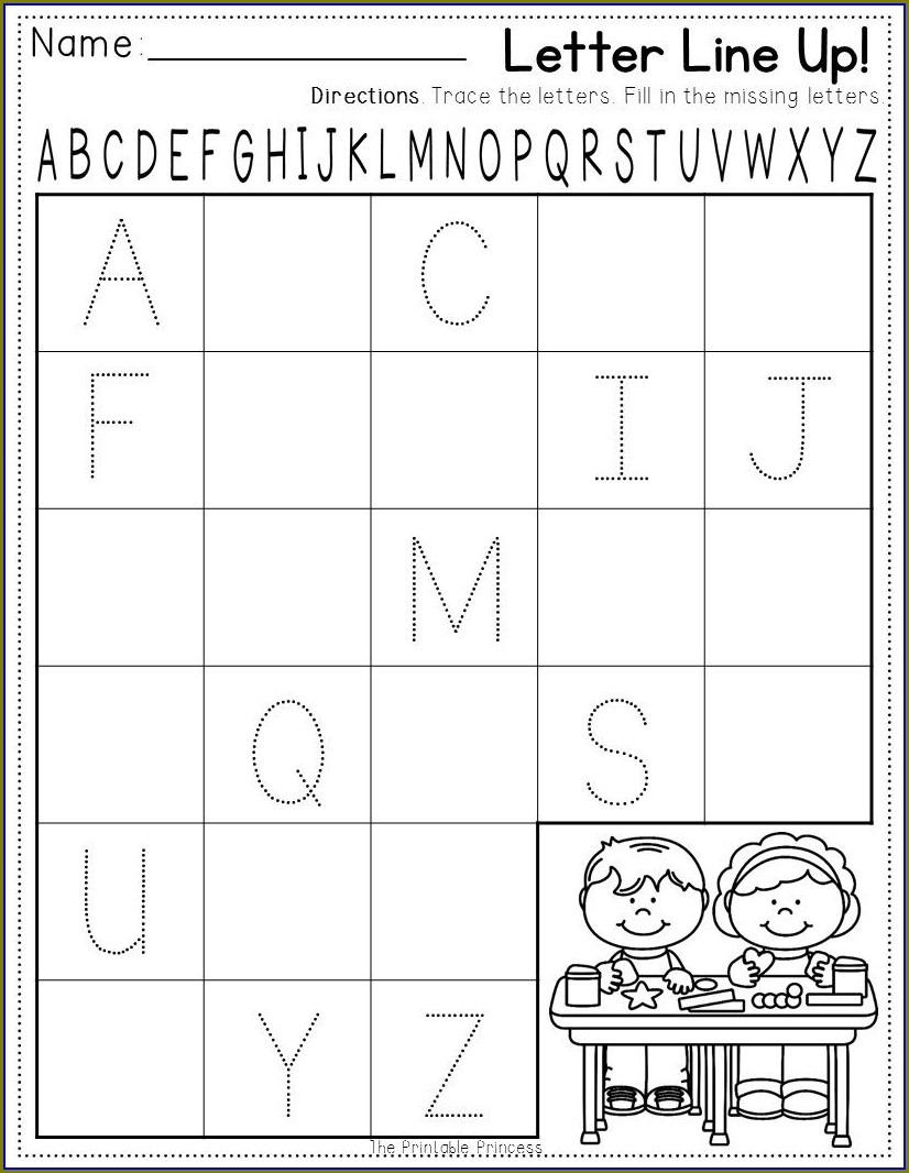 Classroom My School Worksheets For Kindergarten
