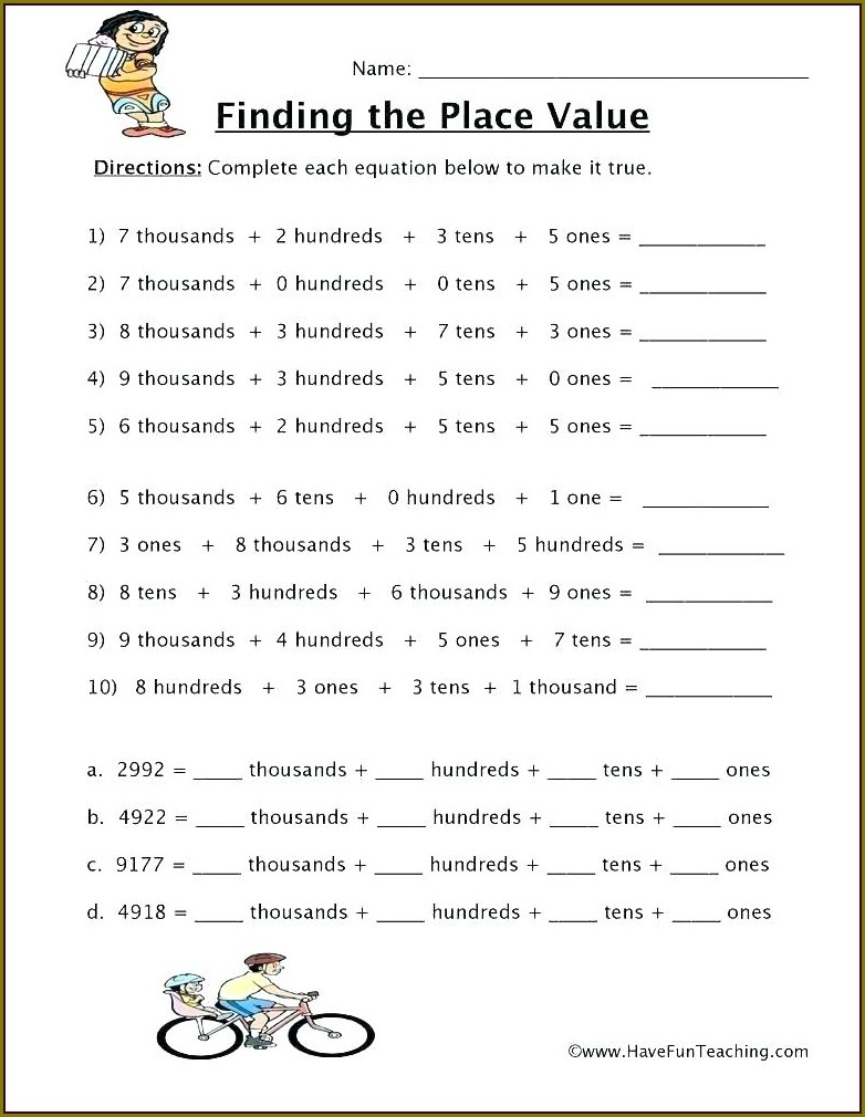 Comparing And Ordering Numbers Worksheet Pdf
