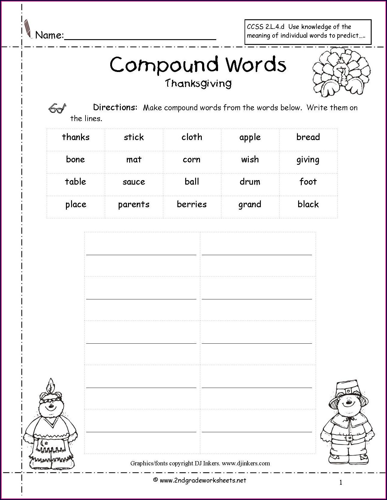 Compound Words And Worksheets