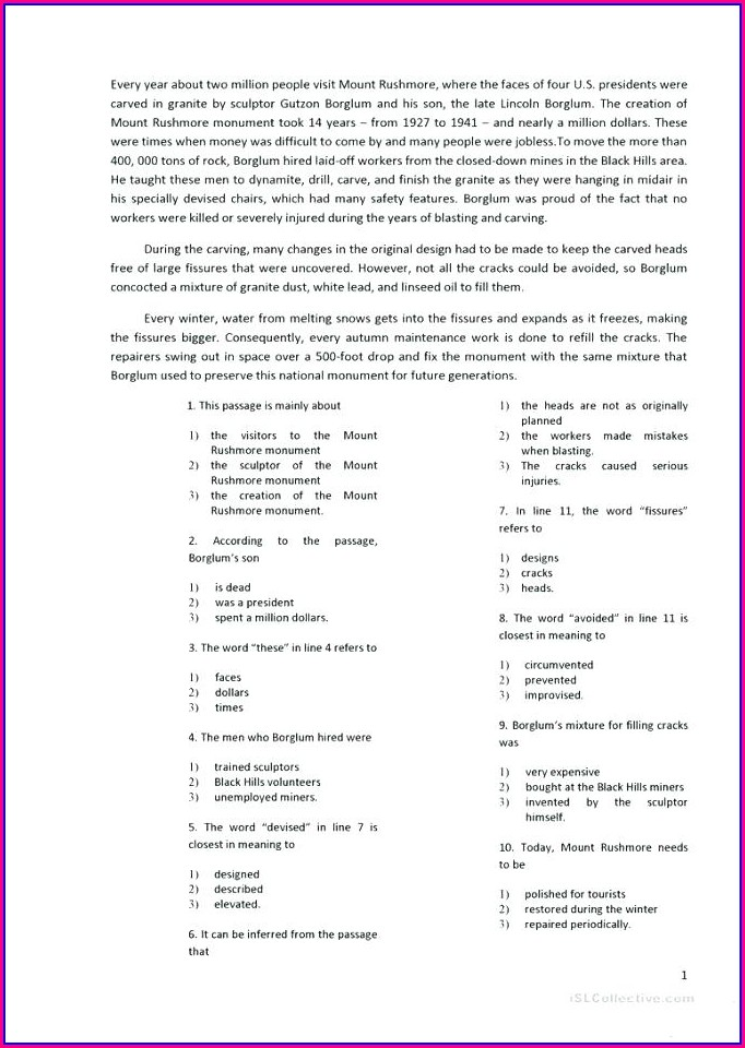 Comprehension Passages Pdf For Grade 4