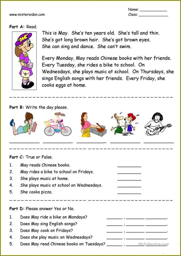 Comprehension Passages With Questions And Answers For Grade 4