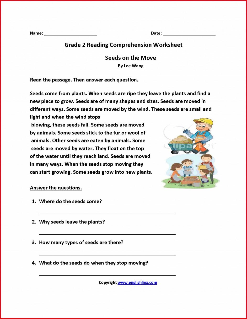 Comprehension Printable Worksheets For Grade 5