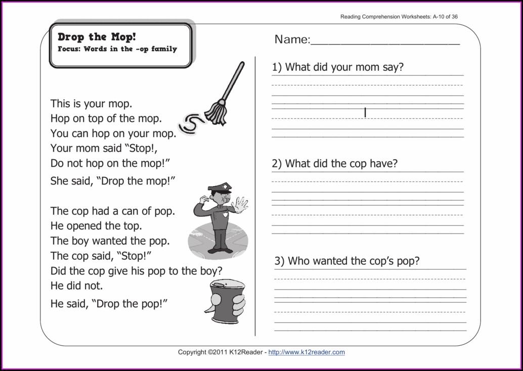 Comprehension Worksheet Grade 10