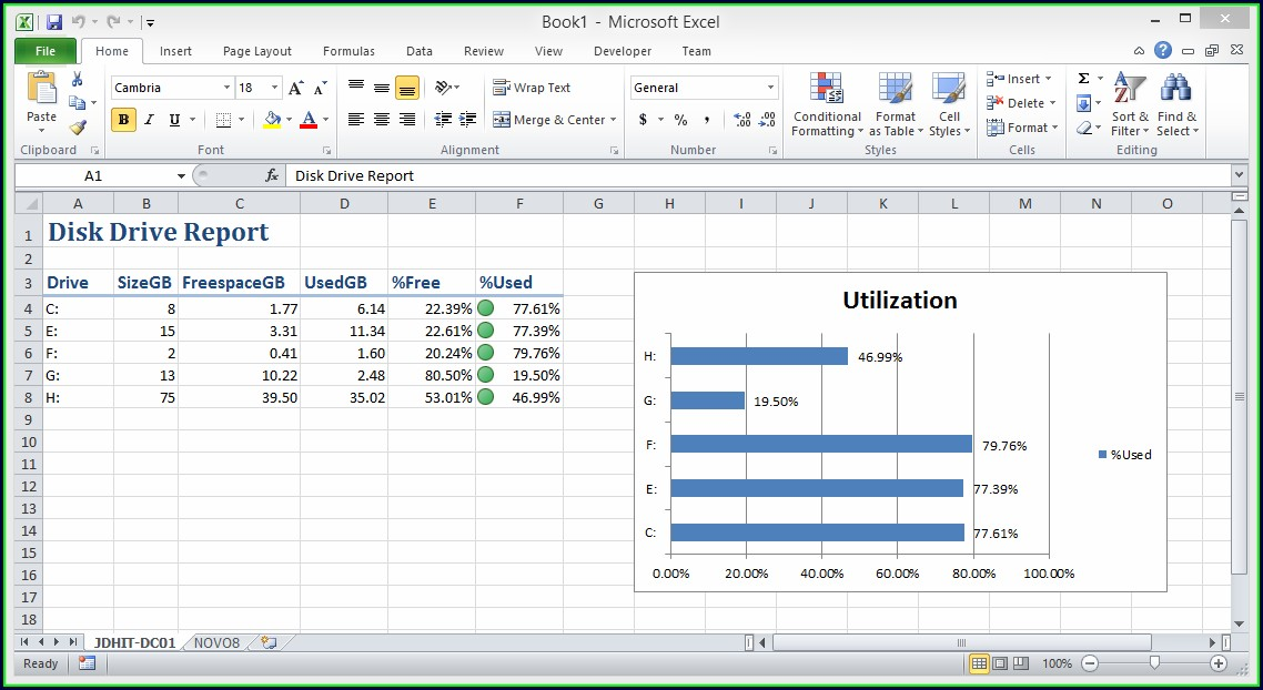 Create Excel Worksheet With Powershell