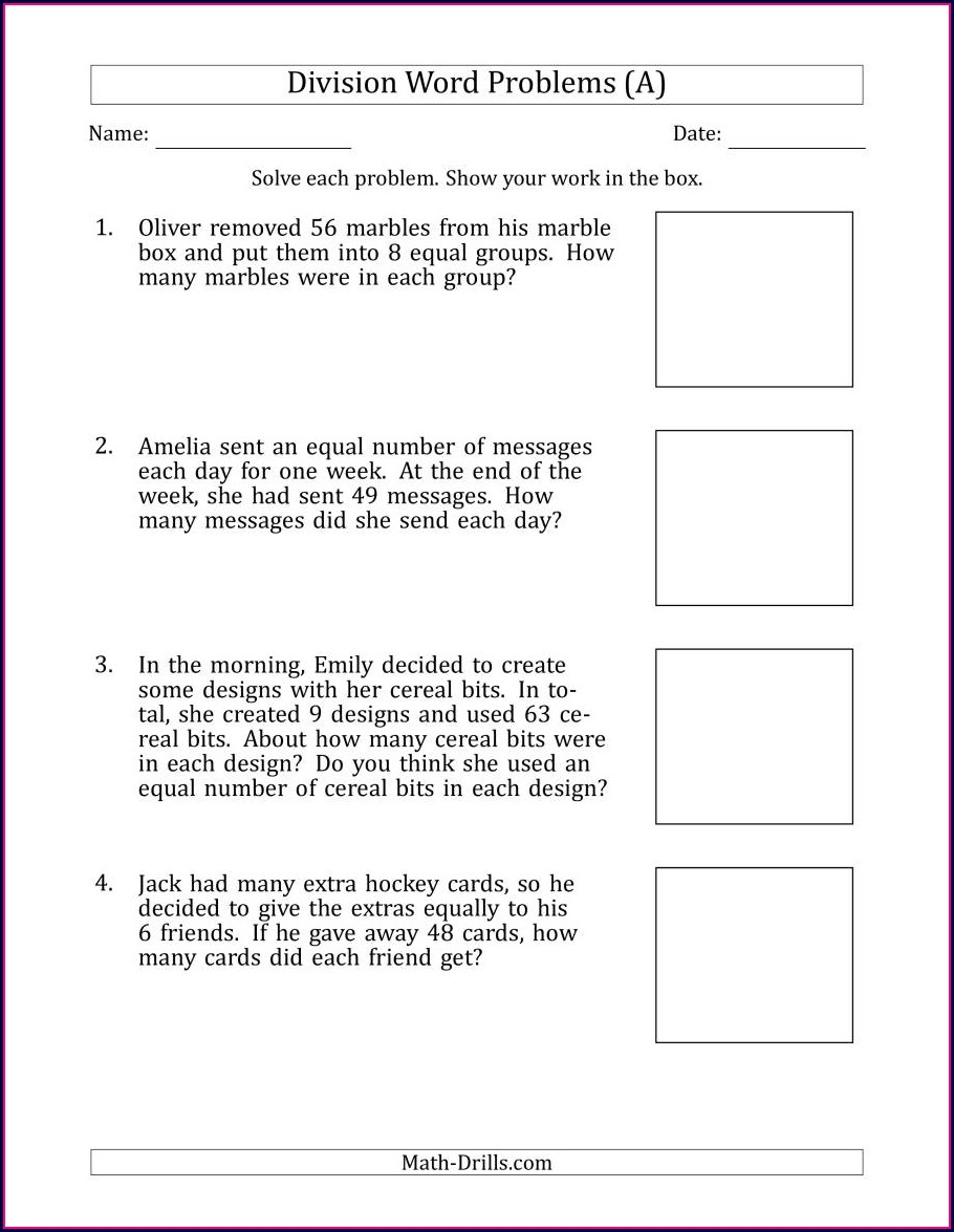 Create Math Word Problems Worksheets