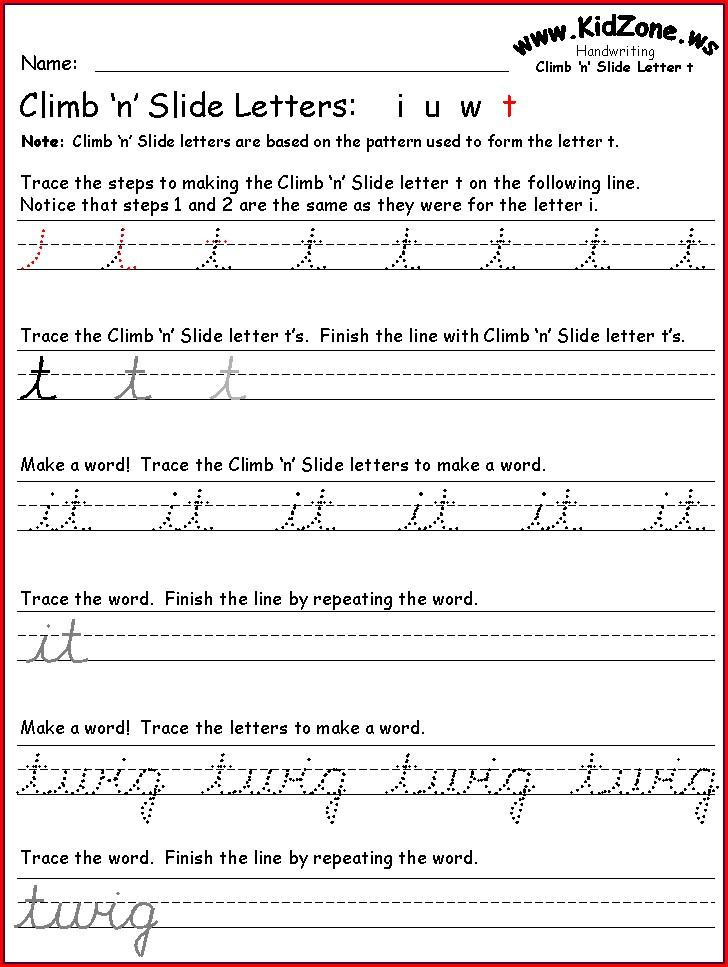 Cursive Writing 3rd Grade Handwriting Worksheets Pdf