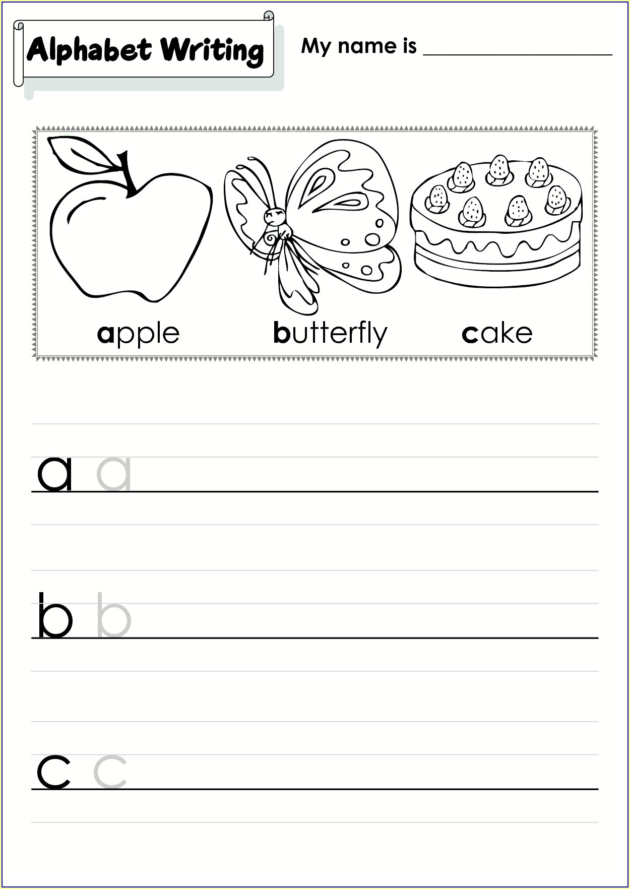 Cursive Writing Dotted Worksheets