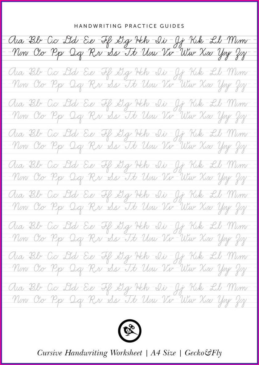Cursive Writing Practice Worksheets 5th Grade