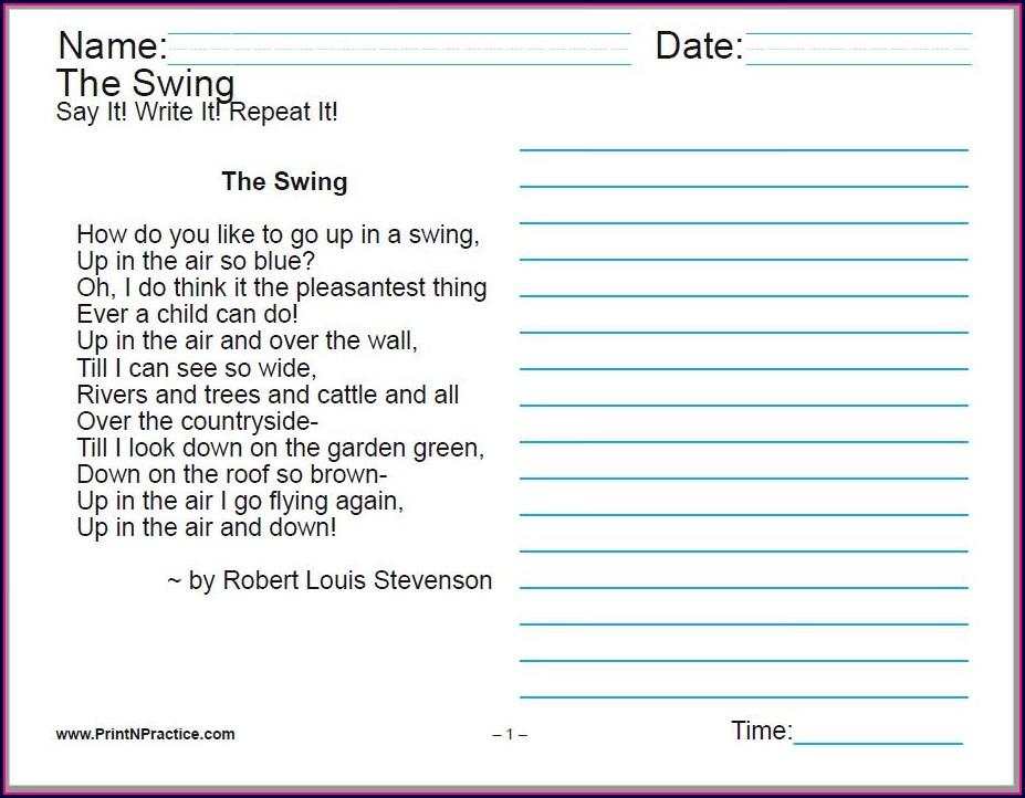 Cursive Writing Strokes Worksheets Pdf