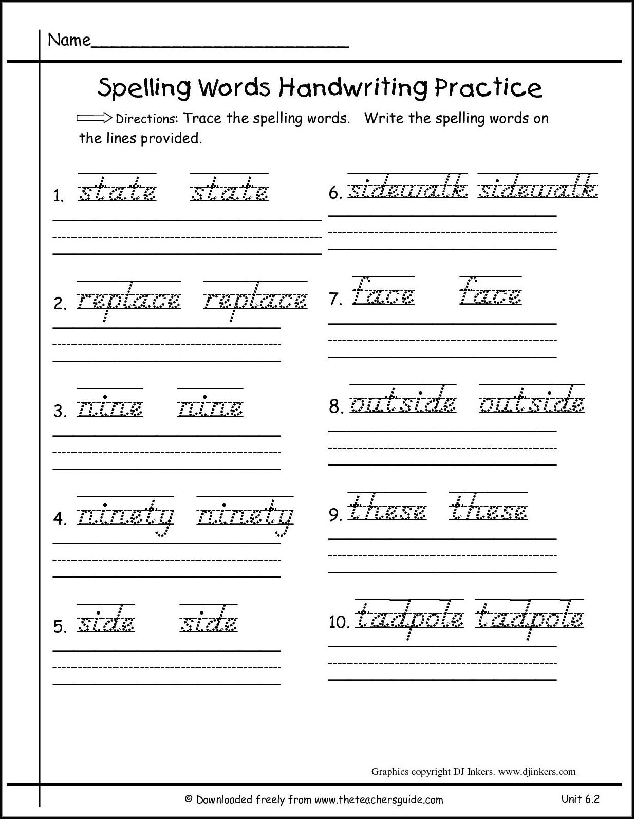 Cursive Writing Worksheet For Grade 3