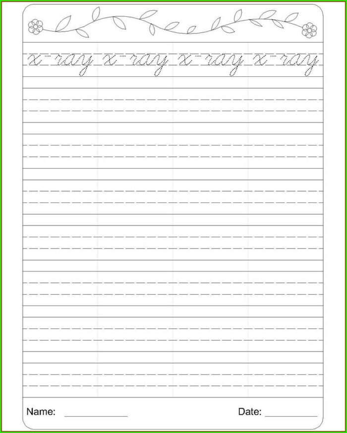 Cursive Writing Worksheets 4 Lines