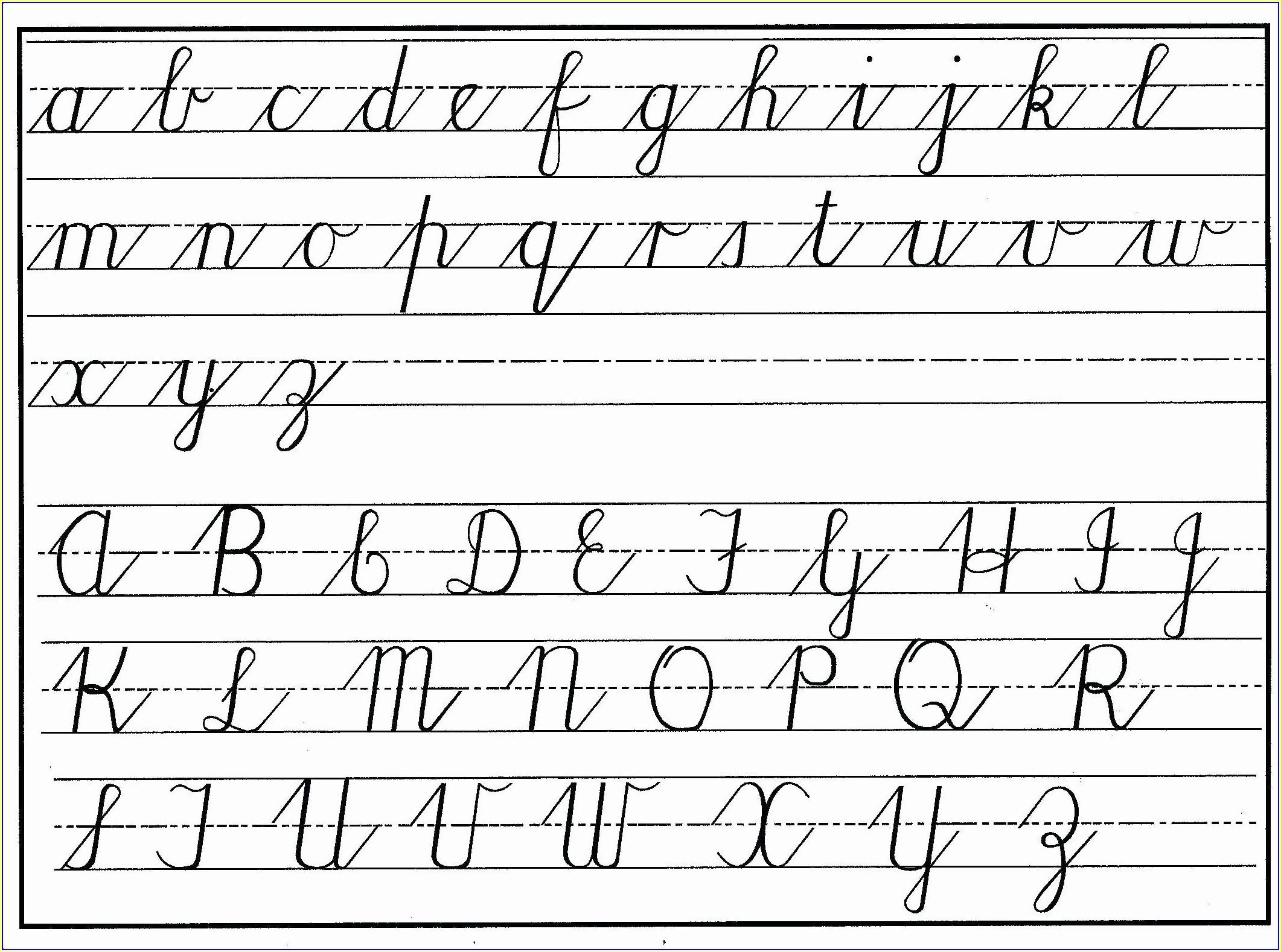 Cursive Writing Blank Worksheets Worksheet Resume