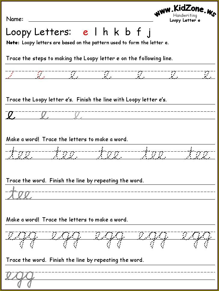 Cursive Writing Worksheets Super Teacher