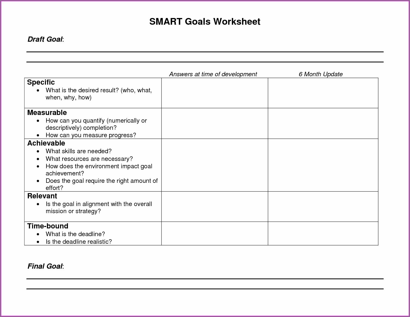 Dan Miller Goal Setting Worksheet
