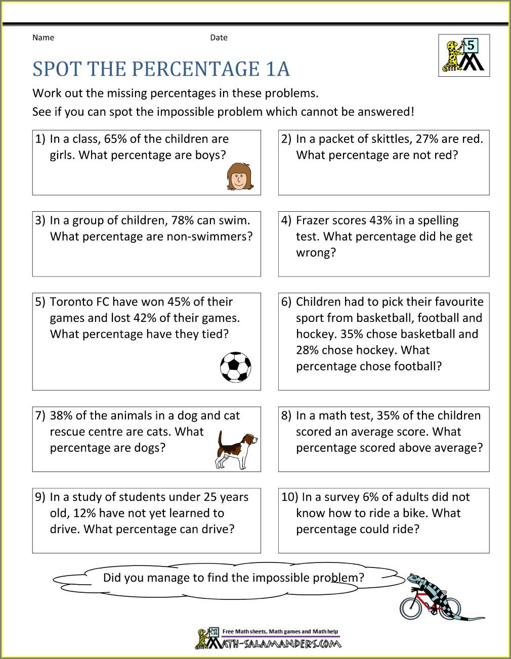 Decimal Word Problems Worksheet Grade 6