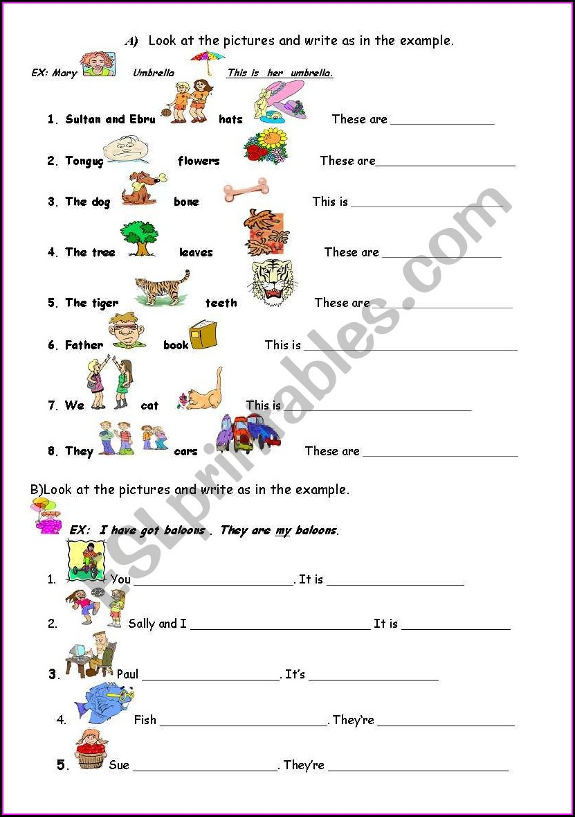 Descriptive Words Esl Worksheets