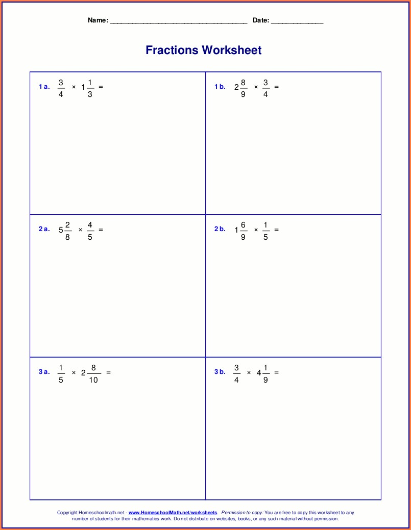 Dividing Mixed Numbers Worksheet With Answer Key