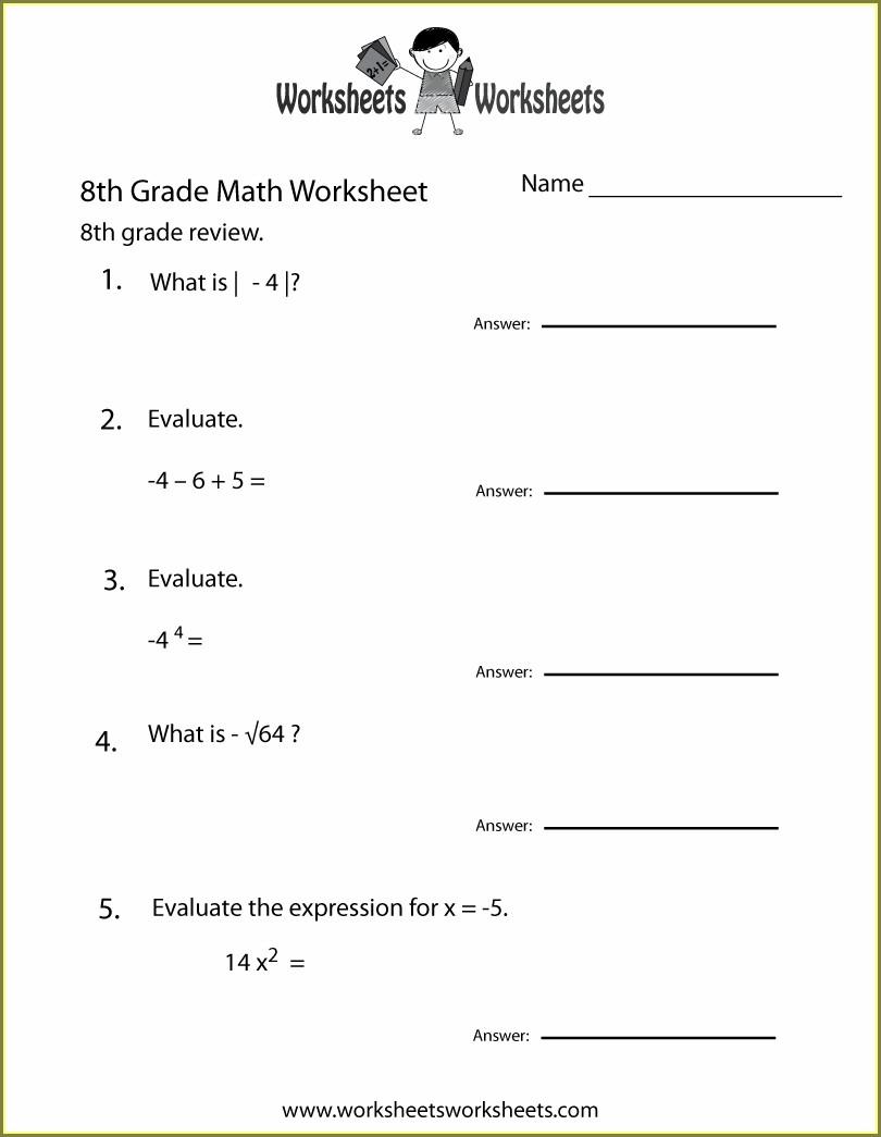 Download 8th Grade Math Worksheets