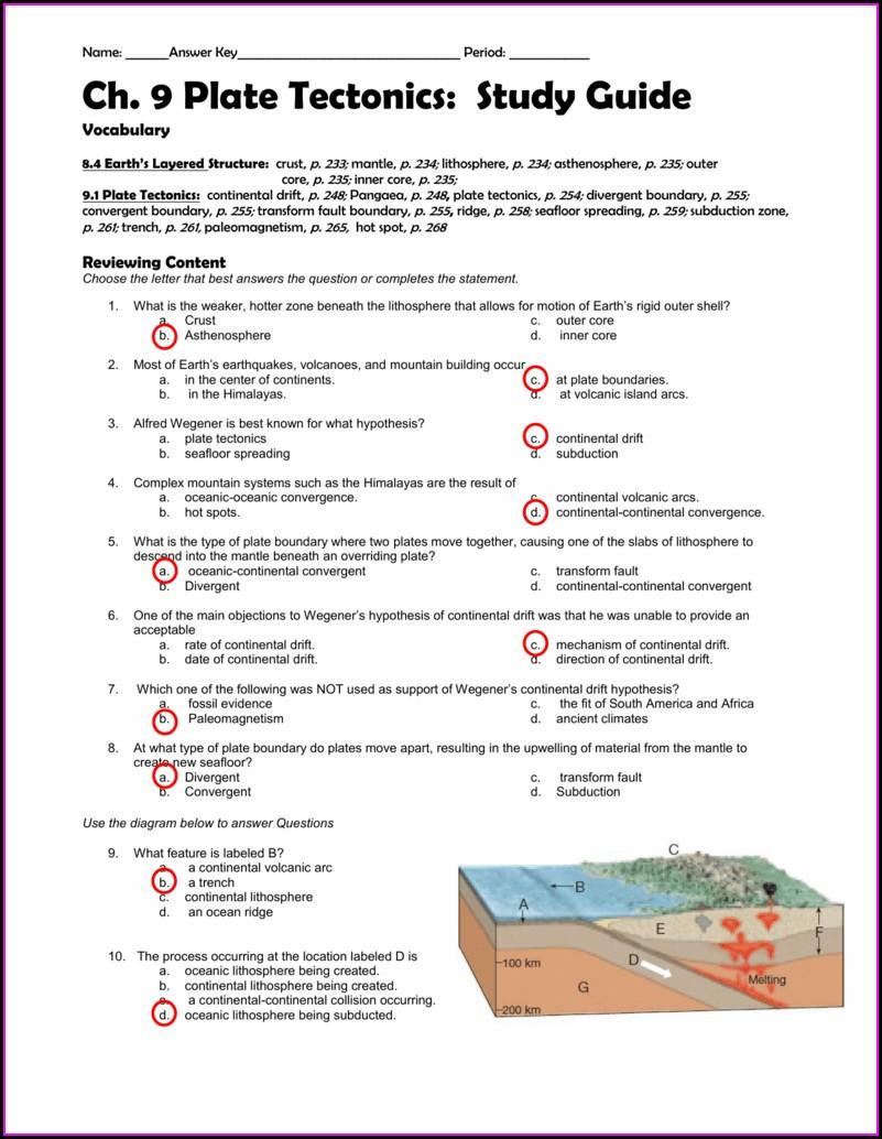 Earth Science Seafloor Spreading Worksheet Answer Key