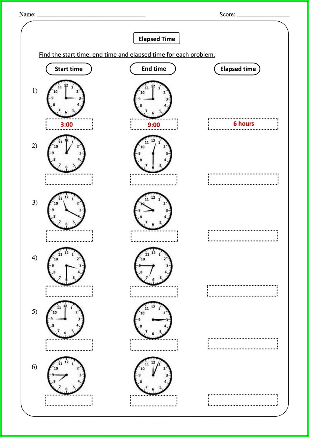 Elapsed Time Telling Time Worksheets Grade 2 Pdf