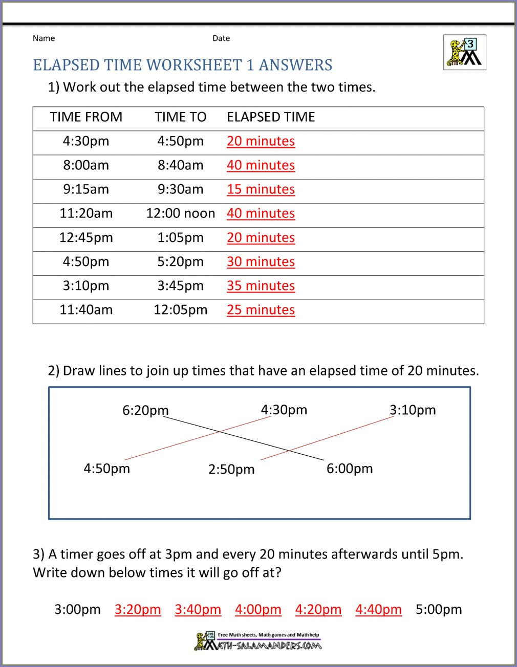 Elapsed Time Worksheet Grade 4 Pdf