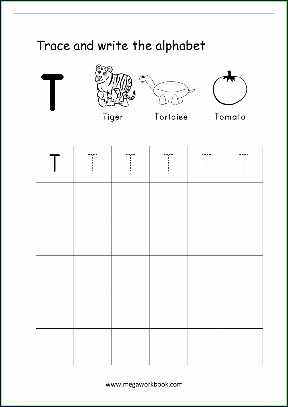 English Alphabet Writing Worksheet Pdf