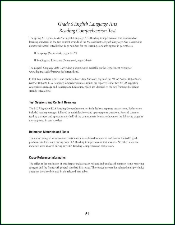 English Comprehension Worksheets For Grade 4 Pdf