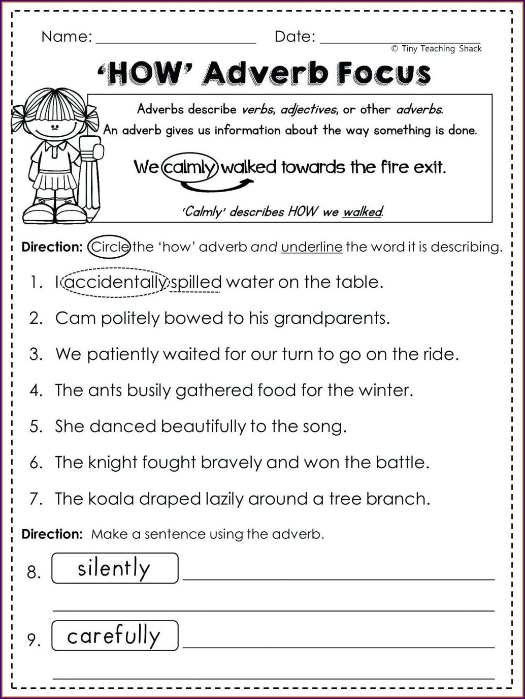 English Grade 6 Grammar Worksheets