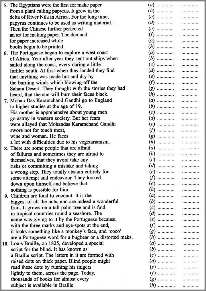 English Grammar Worksheets For Grade 9 With Answers