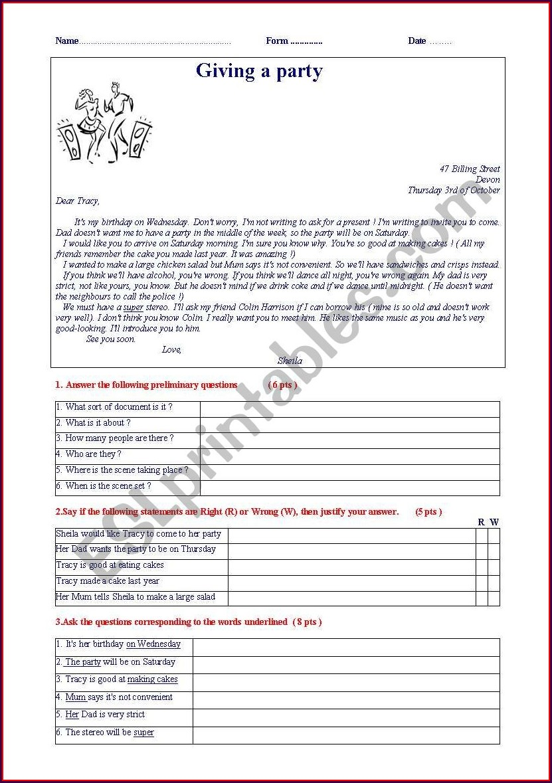 English Worksheet B1 Level