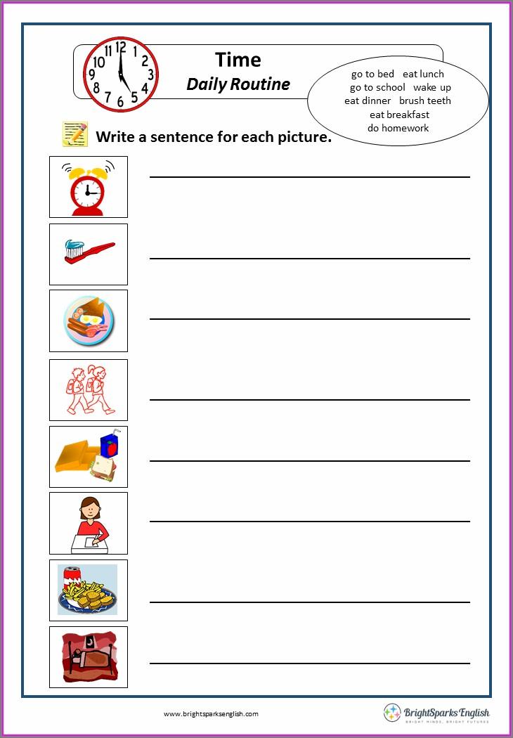 English Worksheet Daily Routine