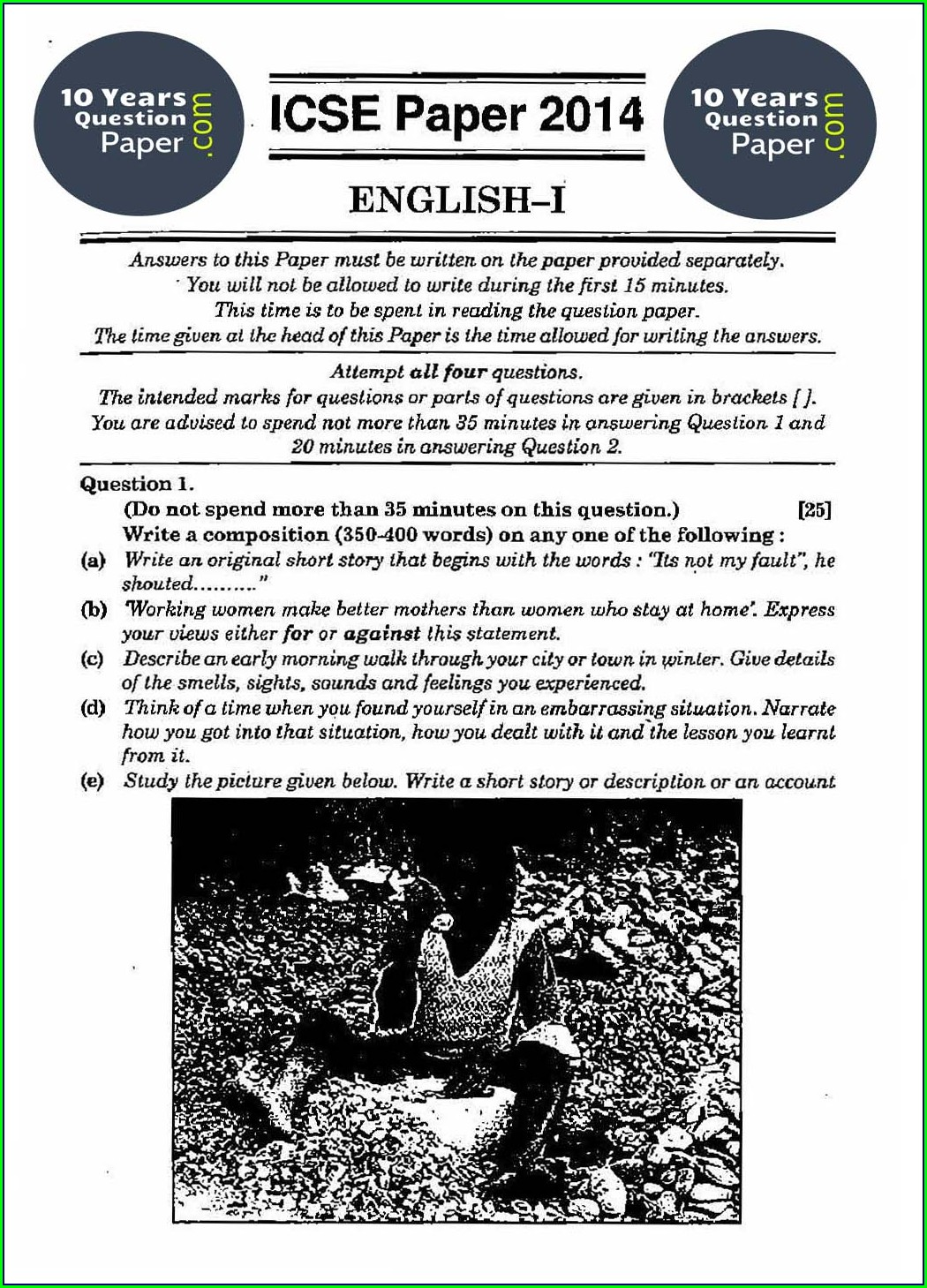 English Worksheet For Class 6 Cbse