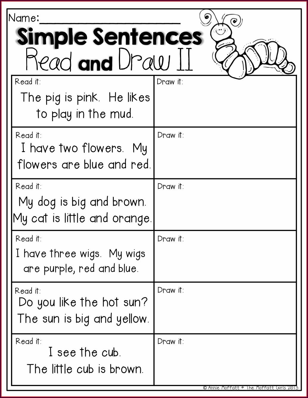 English Worksheet For Grade 2 Students