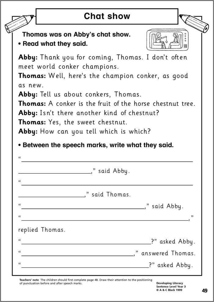 English Worksheet For Primary 4