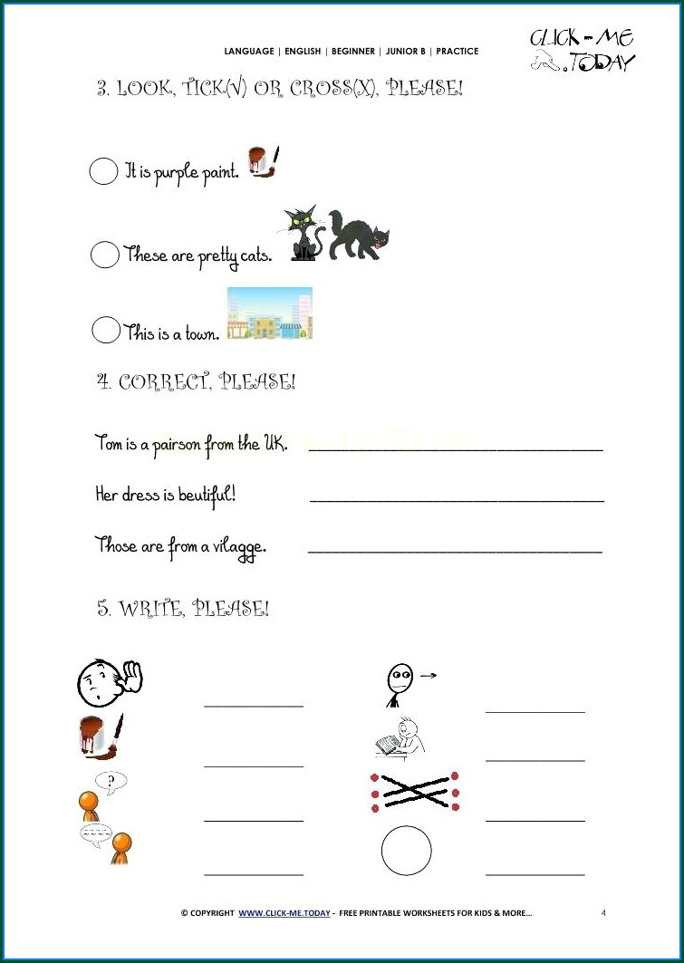 English Writing Worksheets For Grade 2