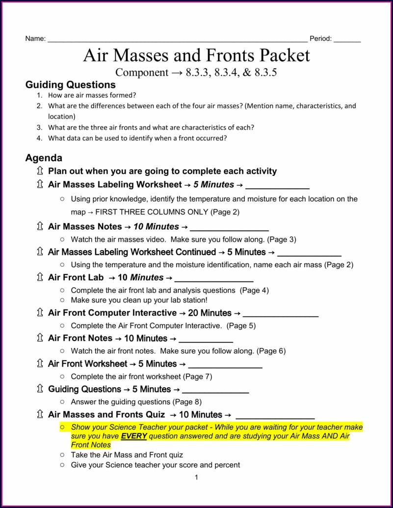 Environmental Science 8.3 Worksheet Answers