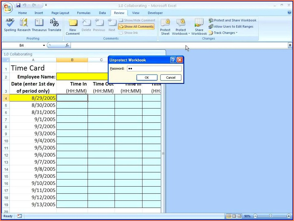 Excel 2007 Password Protect Worksheet From Viewing