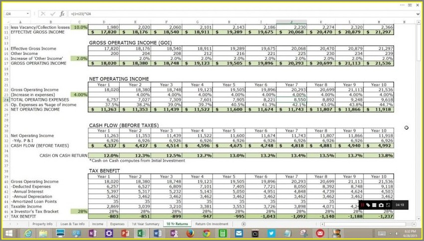 Excel Accounting Formulas Spreadsheet