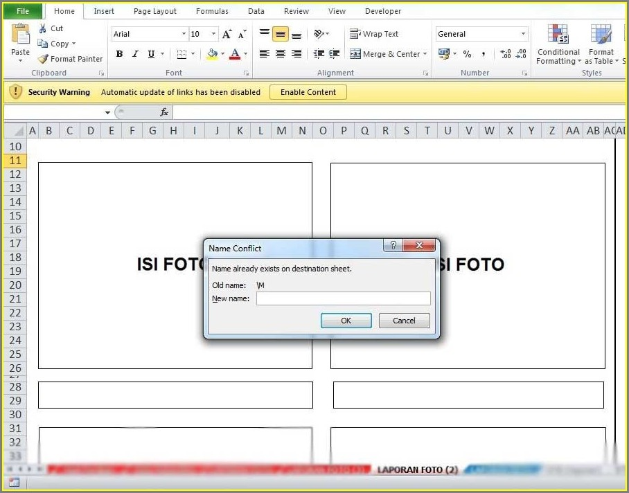 Excel Not Letting Me Copy Worksheet