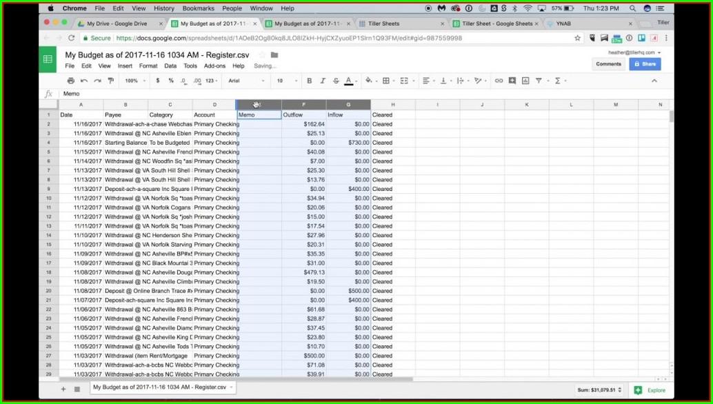 Excel Spreadsheet Like Ynab
