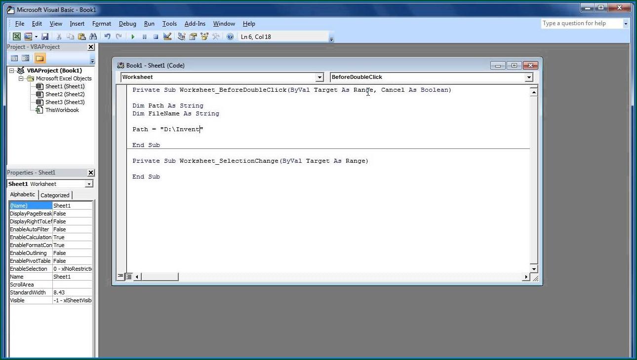 Excel Vba Access Current Worksheet
