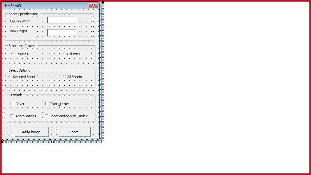 Excel Vba Columns Width Set